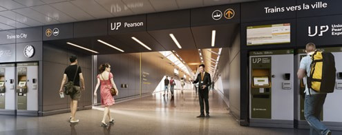 UP Express platform at Pearson Airport Toronto
