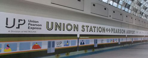 UP Express hoarding in the SKYWALK walkway