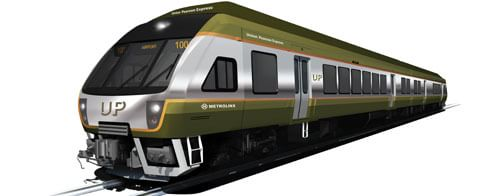 Rendering of a Union Pearson Express airport train car