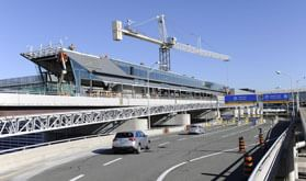 Construction of UP Express station at Pearson Airport