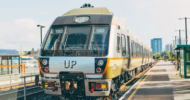Union Pearson Express train at Weston Station