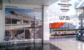 UP Express in the SKYWALK walkway