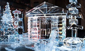 Ice sculptures at Ice Fest