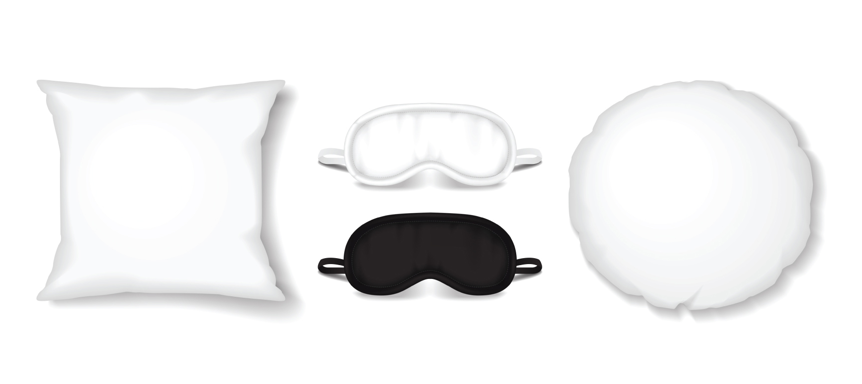 Pillows and sleep masks