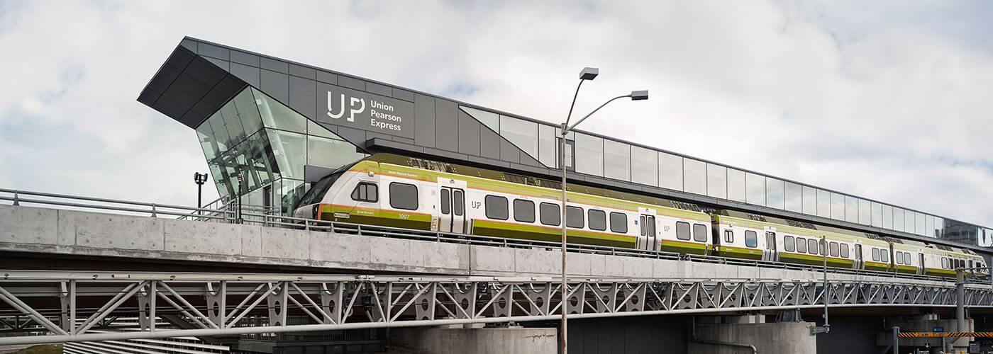 UP Express station at Pearson Airport Toronto