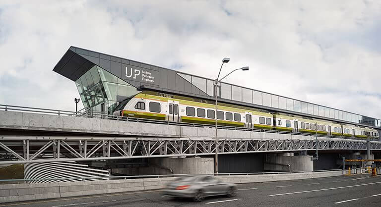UP Express station at Pearson Airport