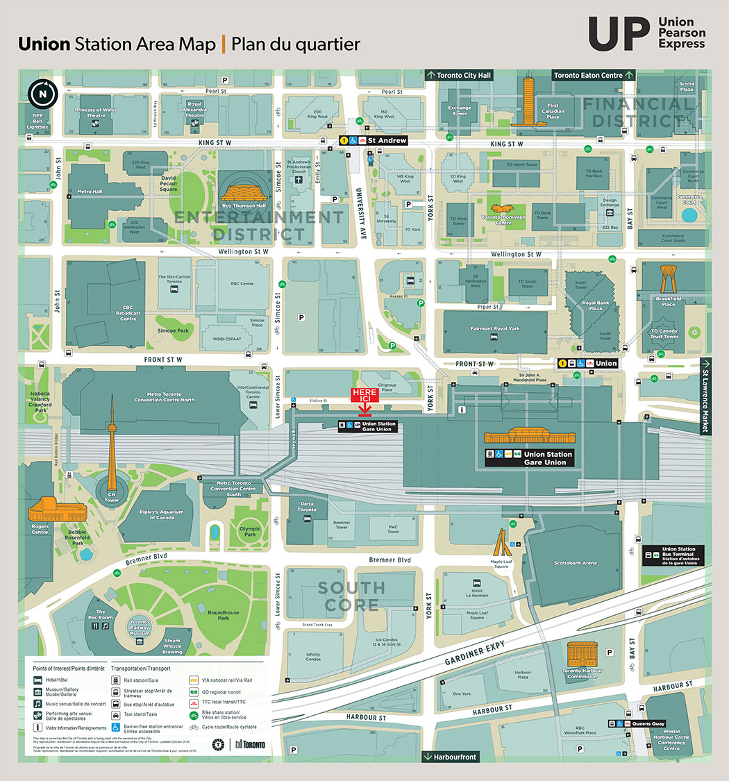 Union Station Toronto Map Union Station | UP Express