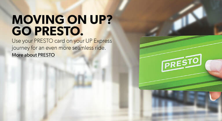 Hand holding a PRESTO card with link to learn more